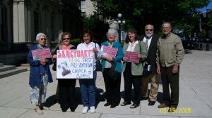 "Supporters and members of the Partners to Restore Ewing Sanctuary rallied at the PNJ 10 Most Announcement on May 19th this year. The sanctuary was included on PNJ's ""10 Most Endangered"" list this year."