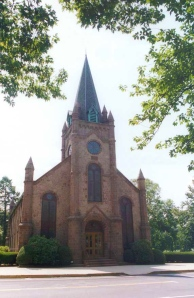 The First Presbyterian Church of Ewing's 1867 sanctuary, now officially slated for demolition.